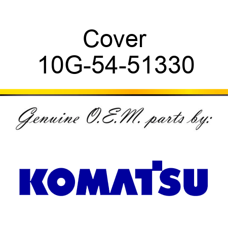 Cover 10G-54-51330