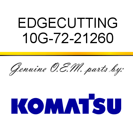 EDGE,CUTTING 10G-72-21260