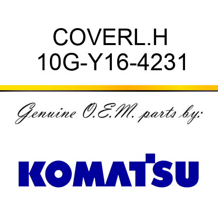 COVER,L.H 10G-Y16-4231