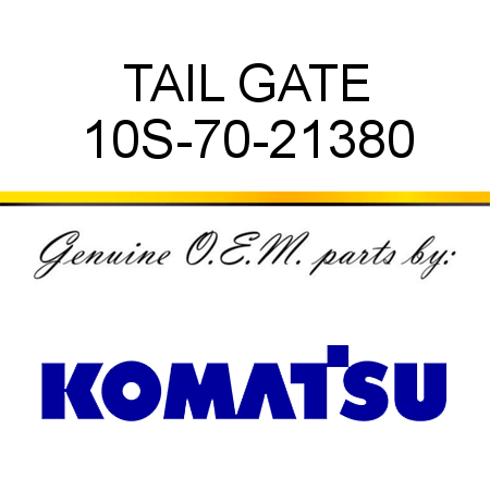 TAIL GATE 10S-70-21380