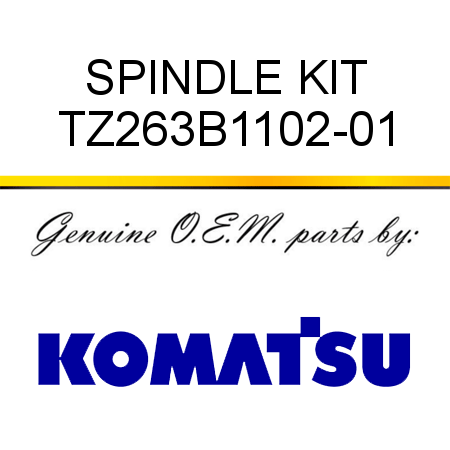 SPINDLE KIT TZ263B1102-01