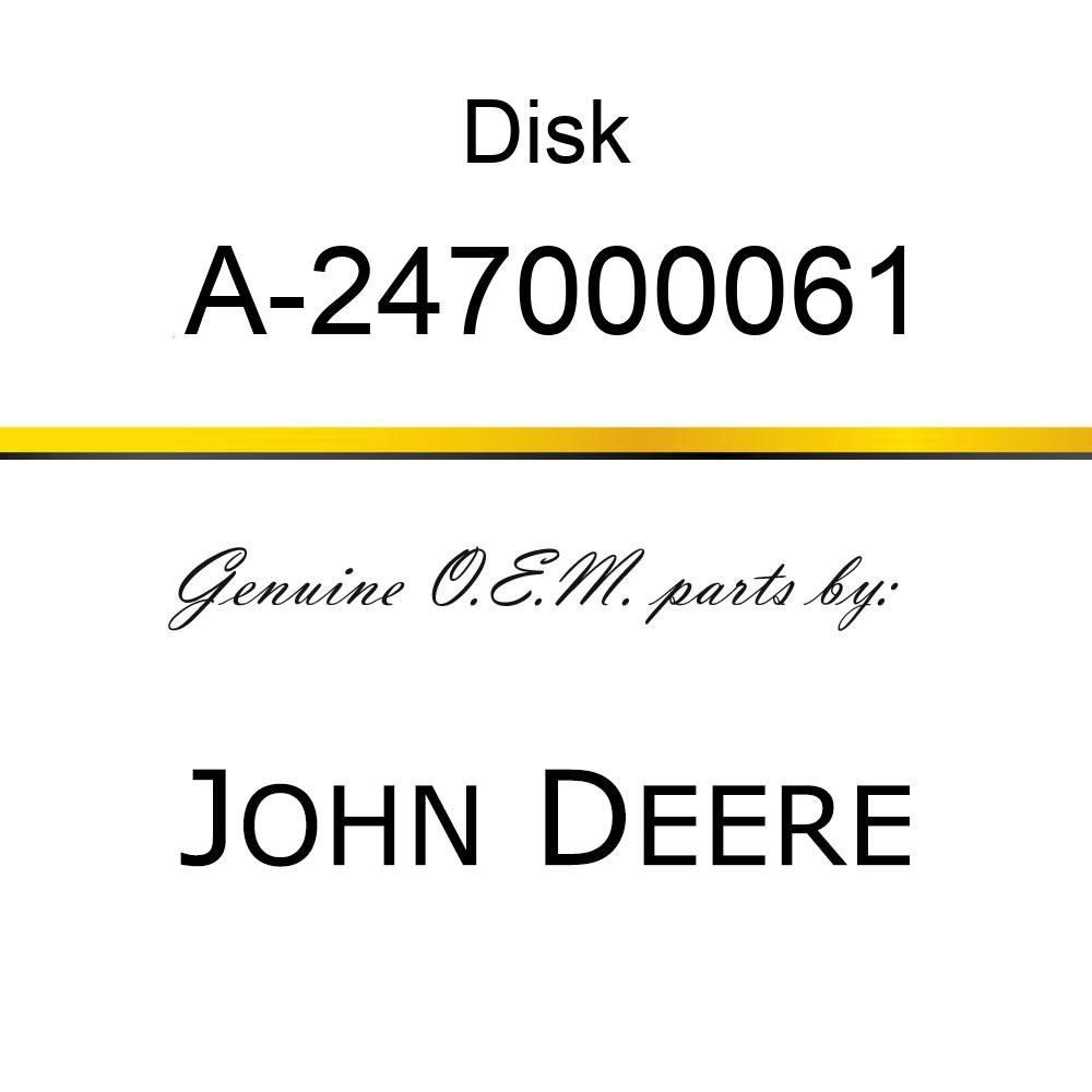 Disk - FRICTION DISC A-247000061