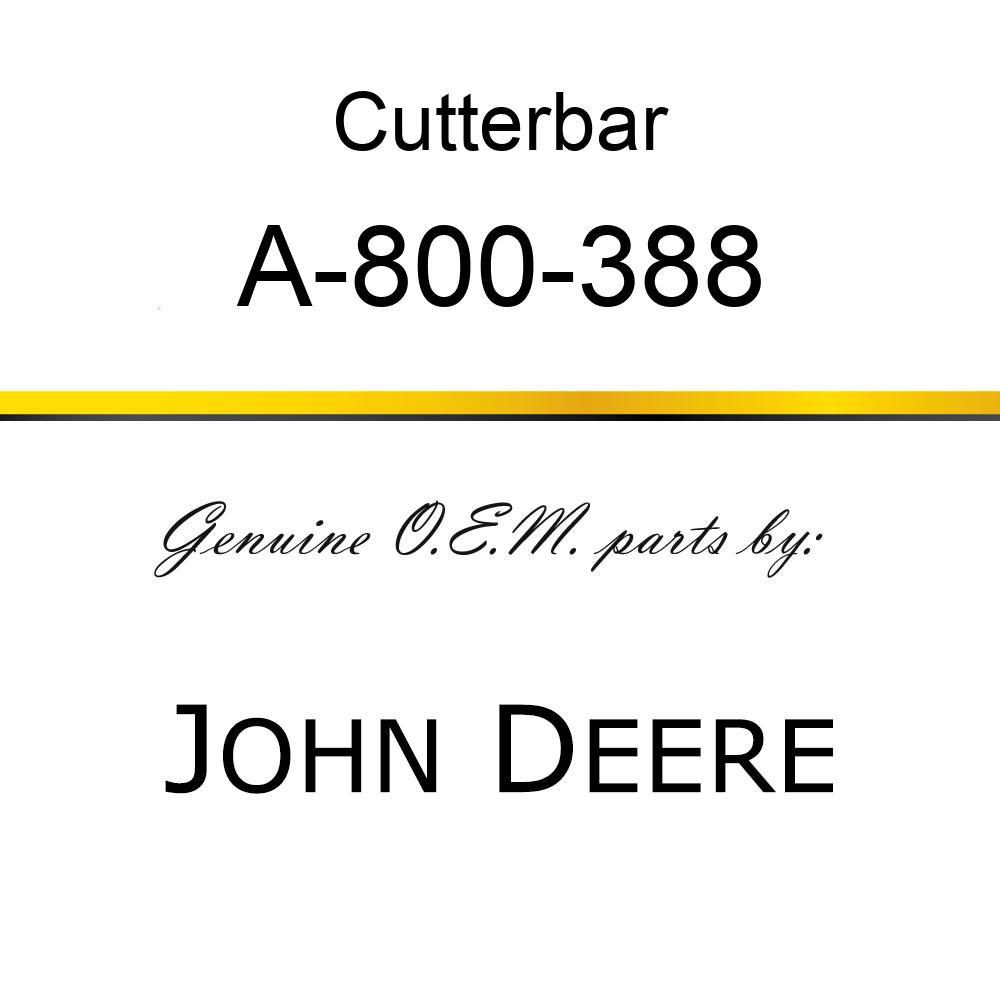 Cutterbar - SICKEL ASSY A-800-388
