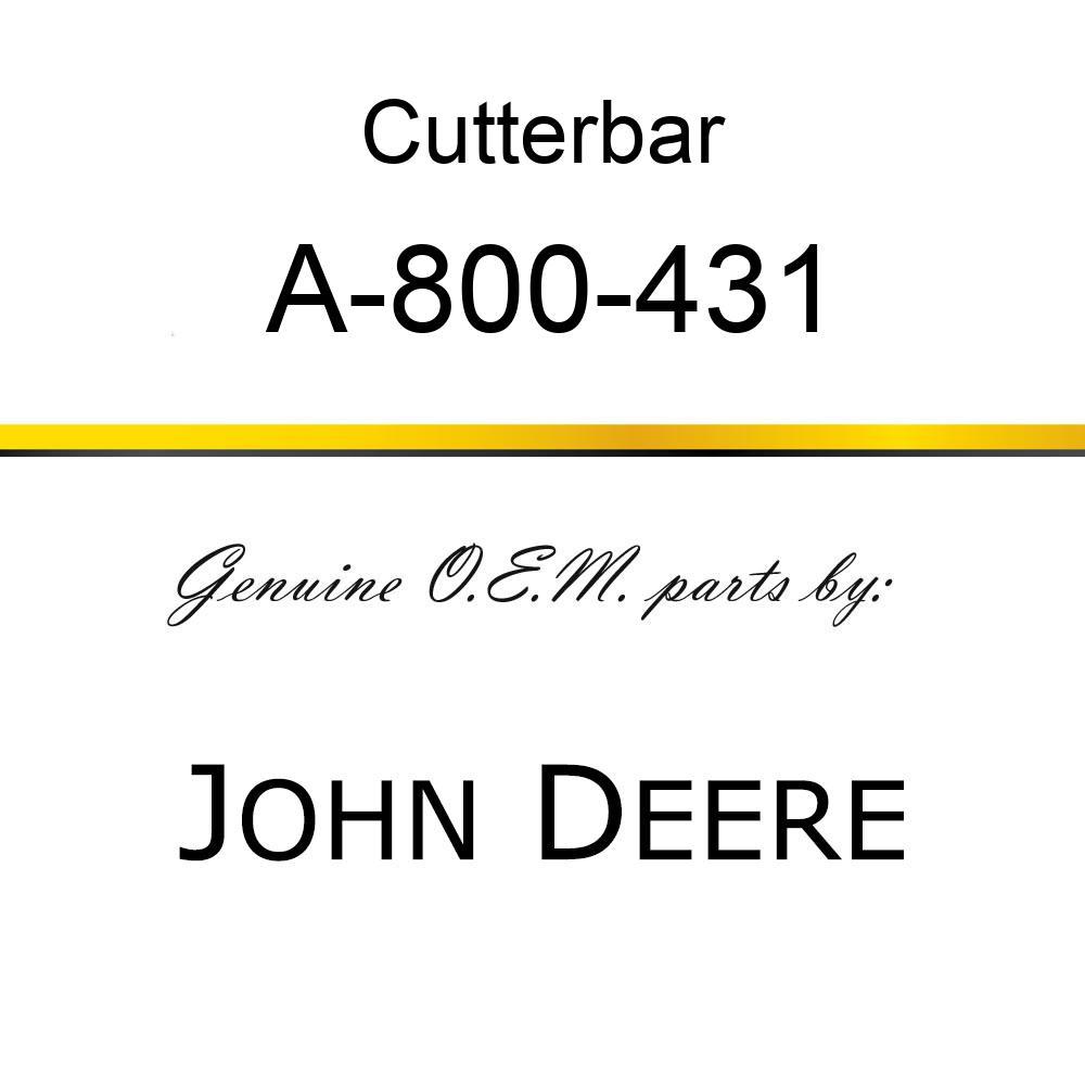 Cutterbar - SICKEL ASSY A-800-431