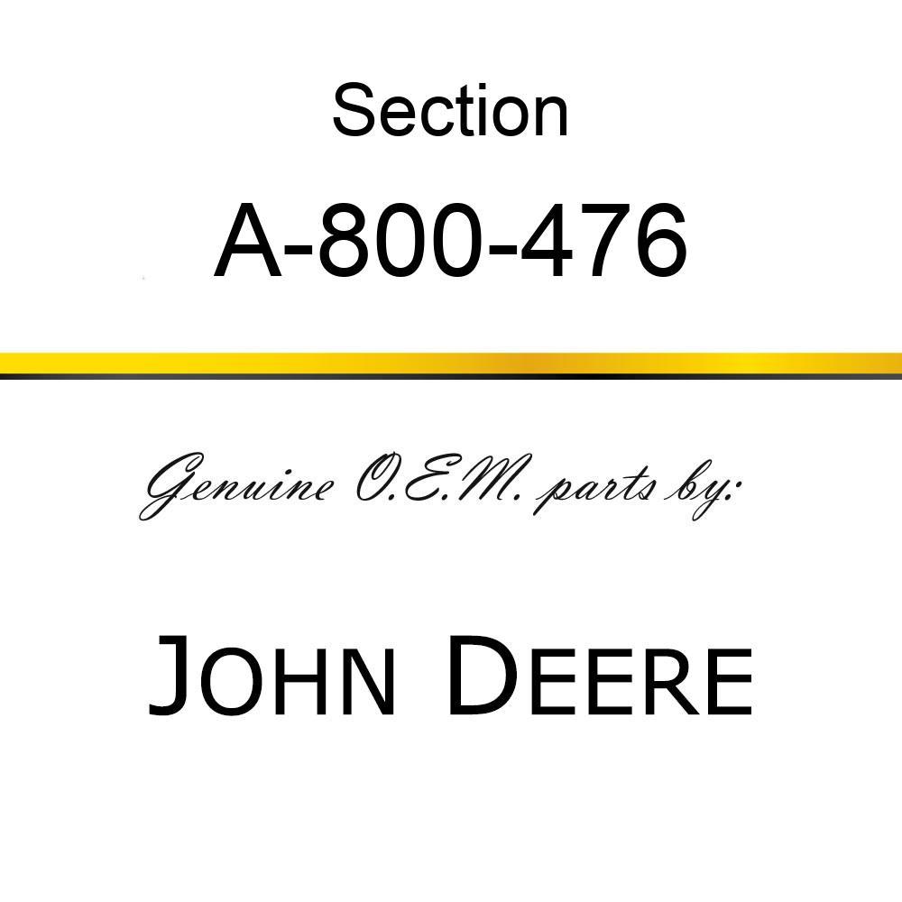 Section - CHROME 11GA UNDER SERRATE A-800-476