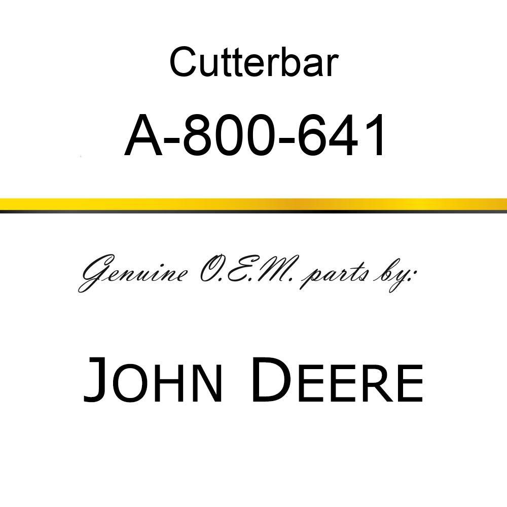 Cutterbar - SICKEL ASSY A-800-641