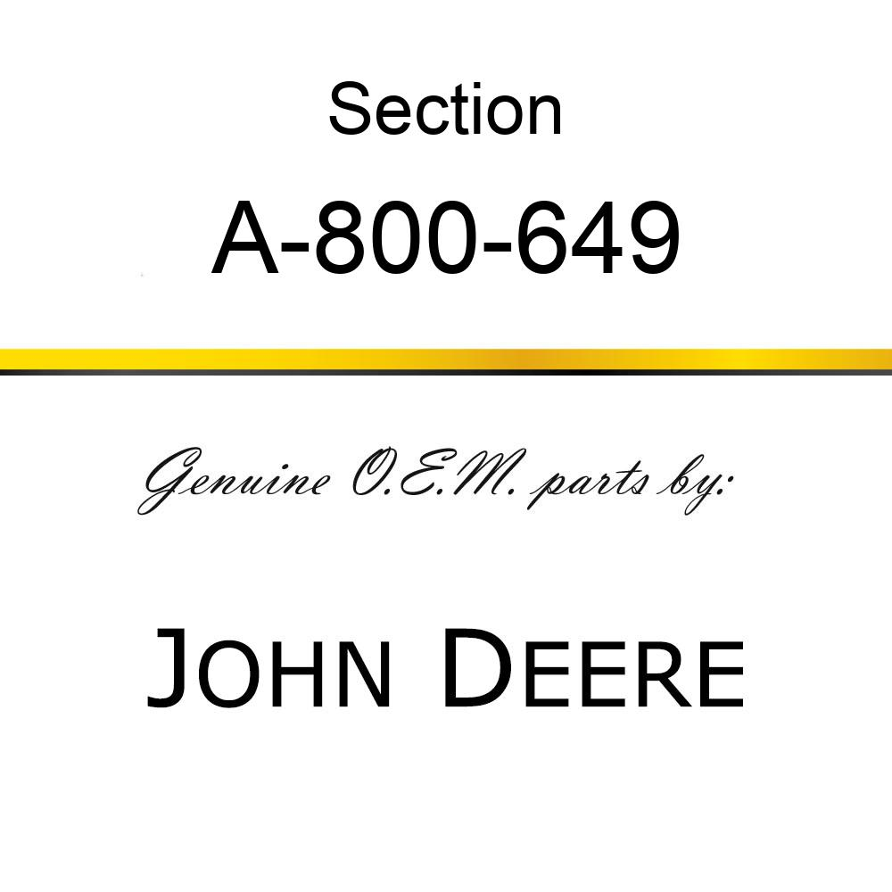 Section - CHOME 12GA TOP SERRATED A-800-649