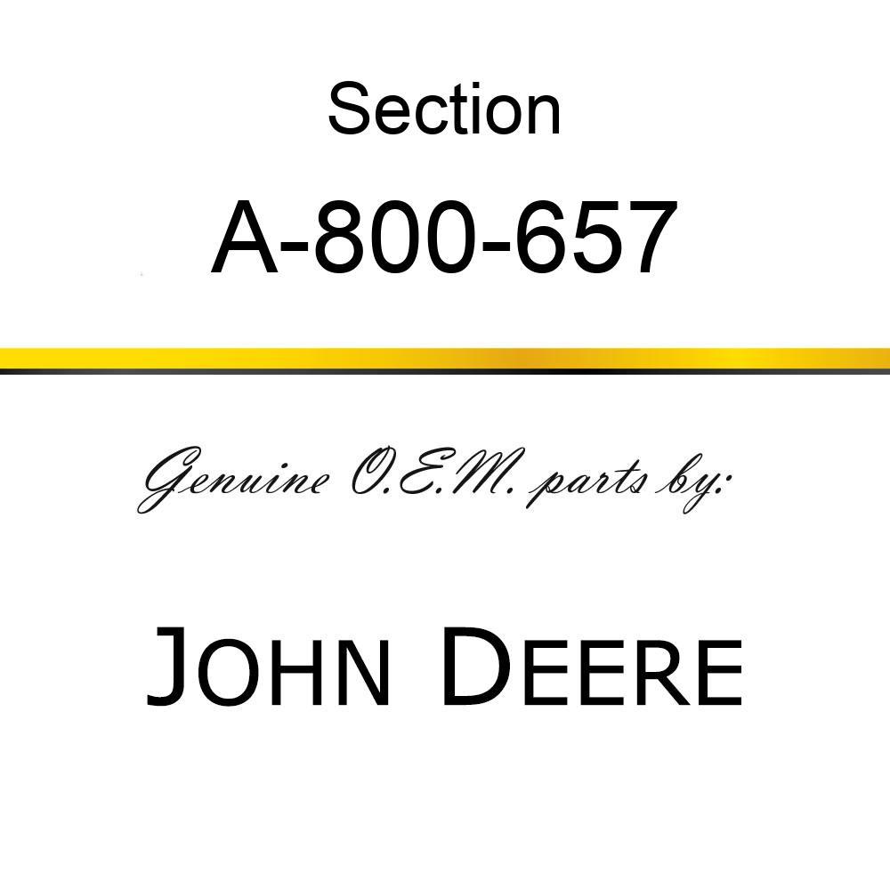 Section - CHROME 14GA UNDER SERRATE A-800-657