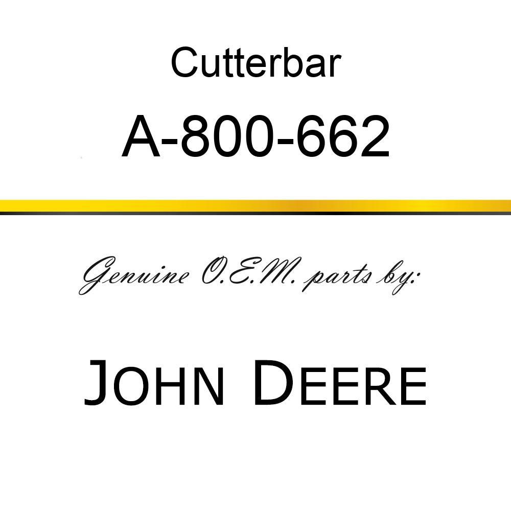 Cutterbar - SICKEL ASSY A-800-662