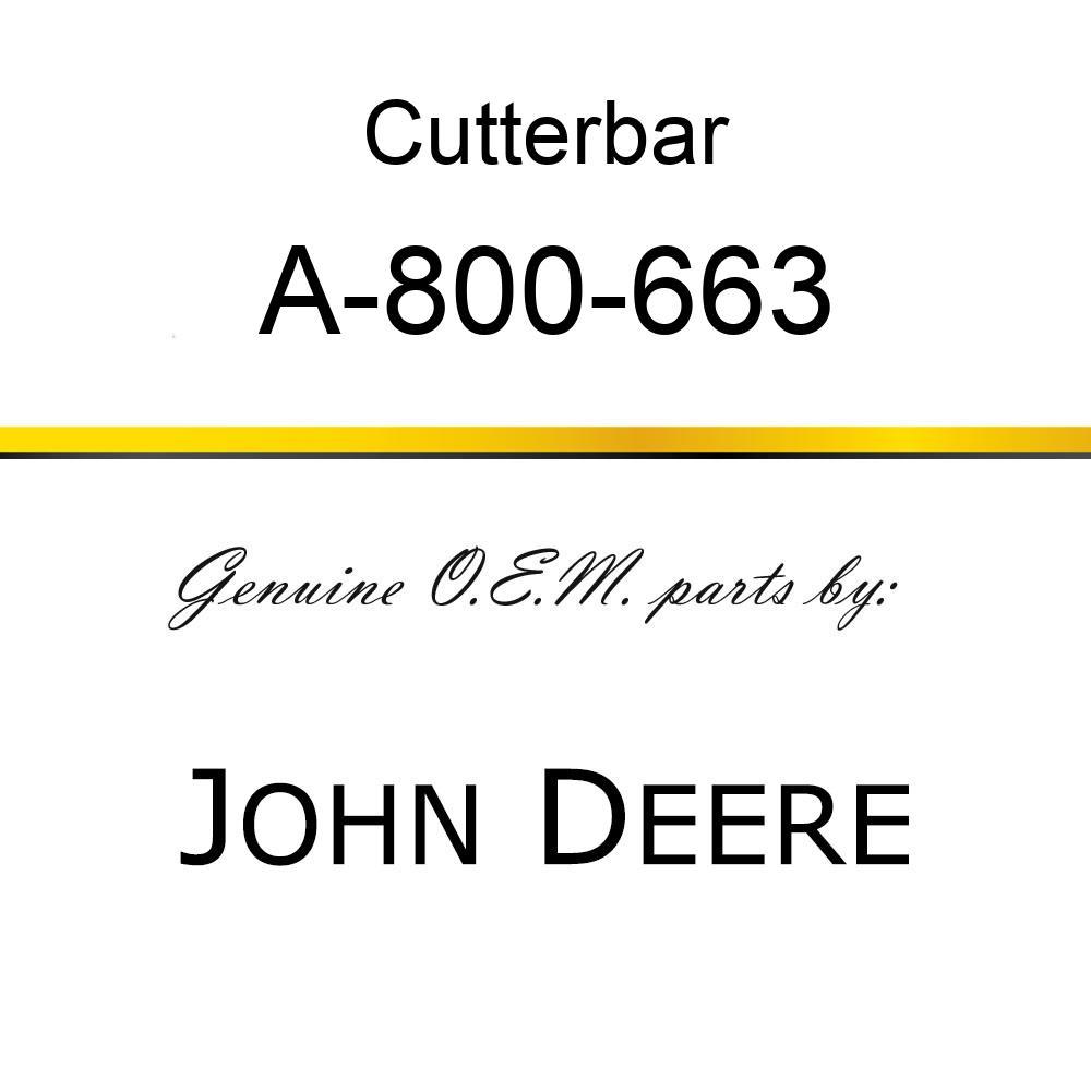 Cutterbar - SICKEL ASSY A-800-663