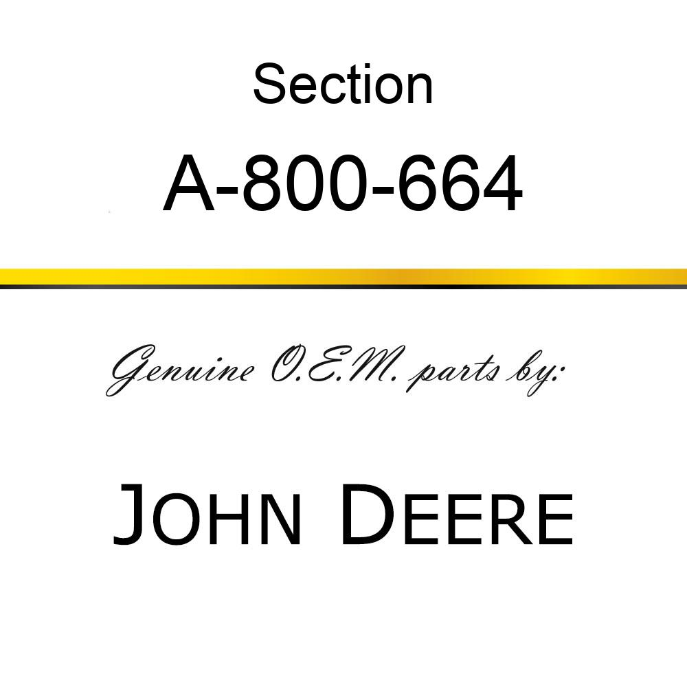 Section - BLACK 14GA UNDER SERRATED A-800-664