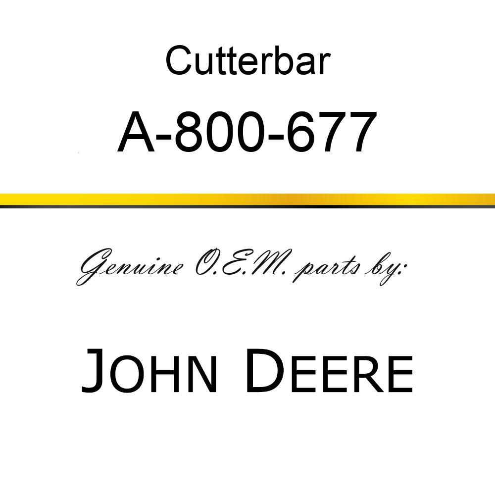 Cutterbar - SICKEL ASSY A-800-677
