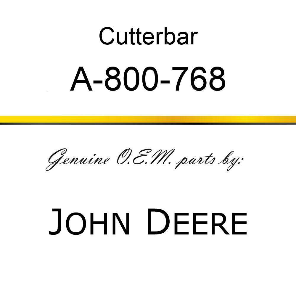 Cutterbar - SICKEL ASSY A-800-768