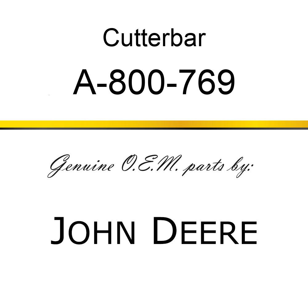Cutterbar - SICKEL ASSY A-800-769