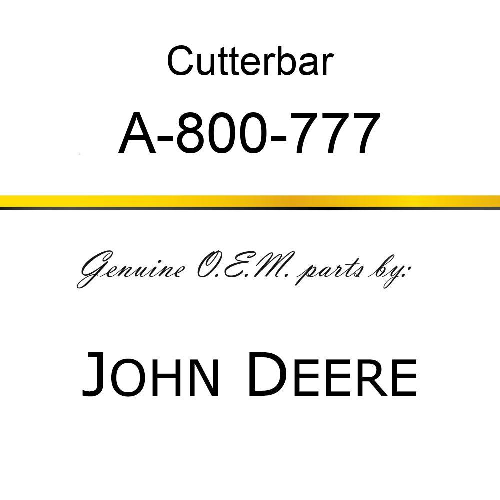 Cutterbar - SICKEL ASSY A-800-777