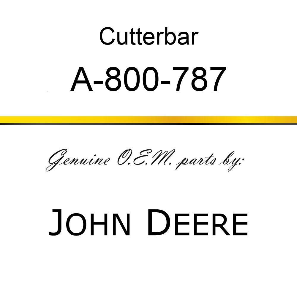 Cutterbar - SICKEL ASSY A-800-787