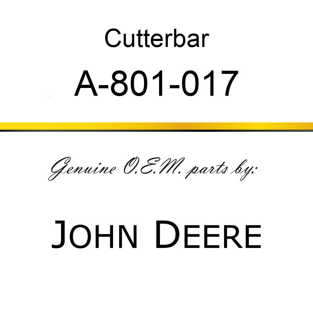 Cutterbar - SICKLE ASSY A-801-017