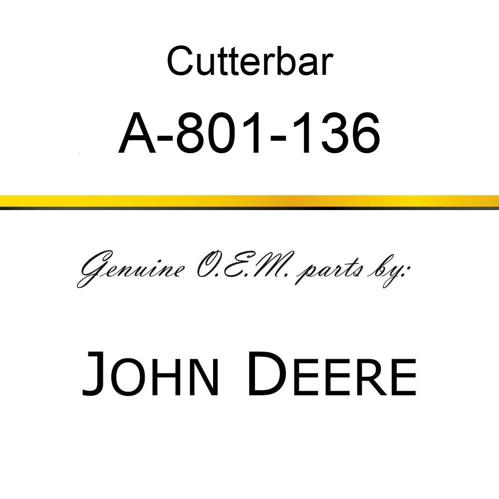 Cutterbar - SICKEL ASSY A-801-136