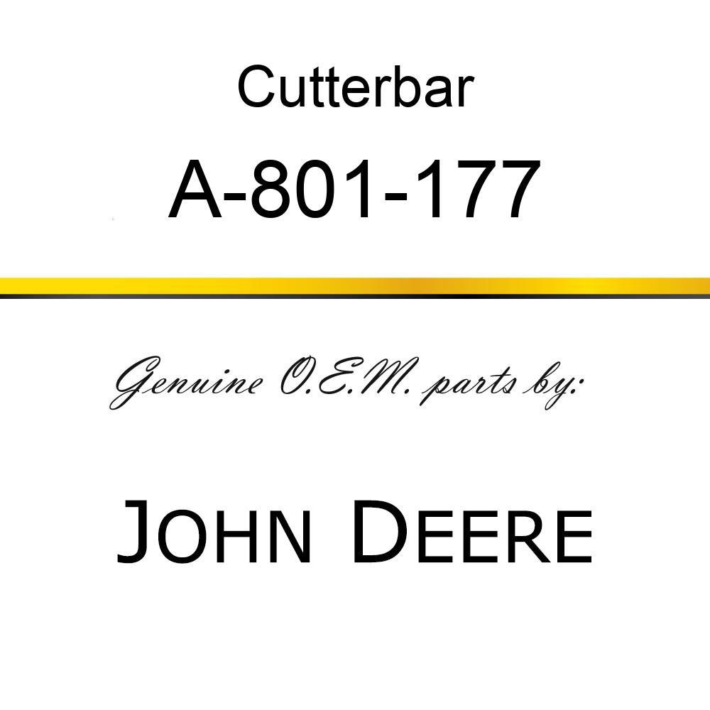 Cutterbar - SICKEL ASSY A-801-177