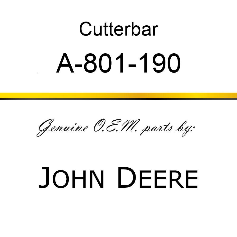 Cutterbar - SICKEL ASSY A-801-190