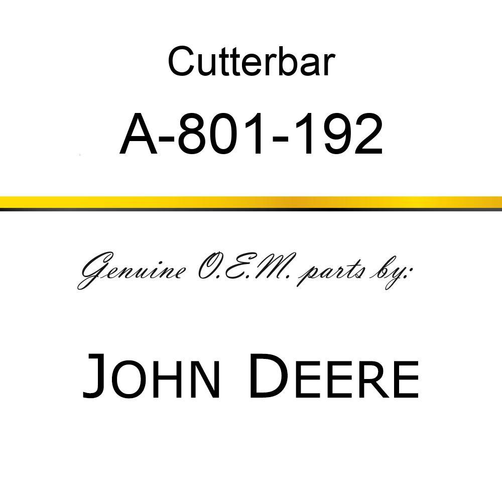Cutterbar - SICKEL ASSEMBLY A-801-192