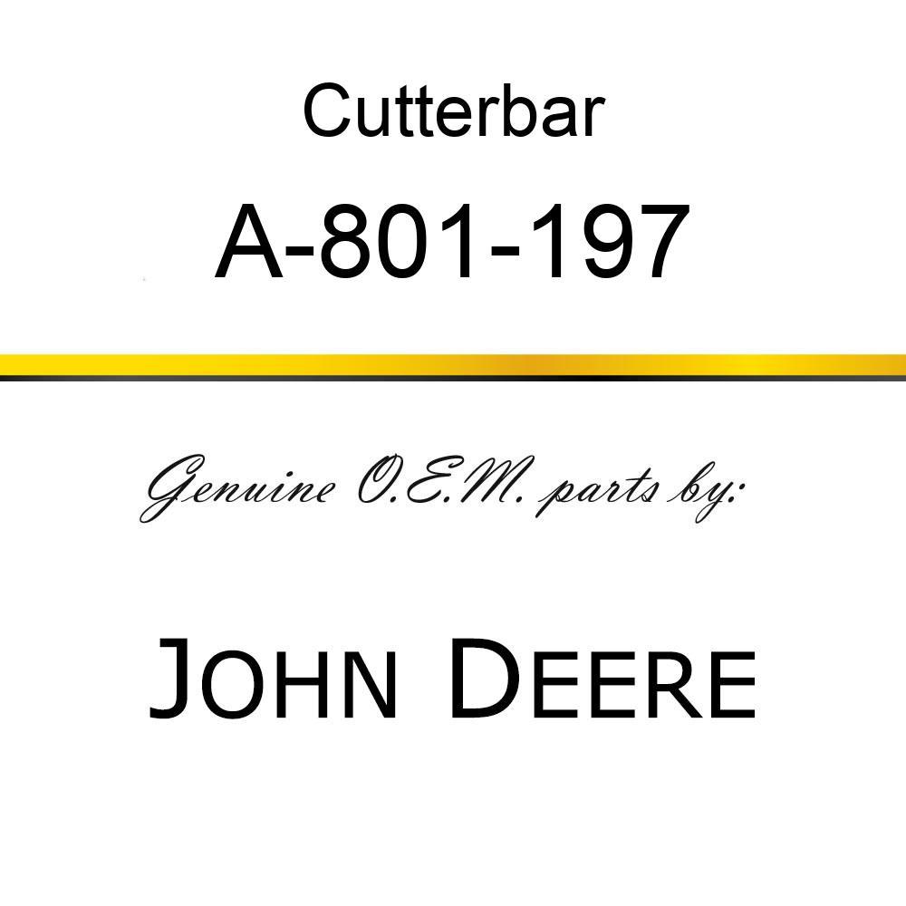 Cutterbar - SICKEL ASSEMBLY A-801-197