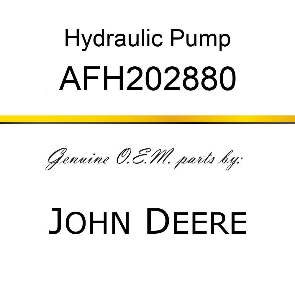 Hydraulic Pump - HYDRAULIC PUMP, W/O RESERVOIR AFH202880