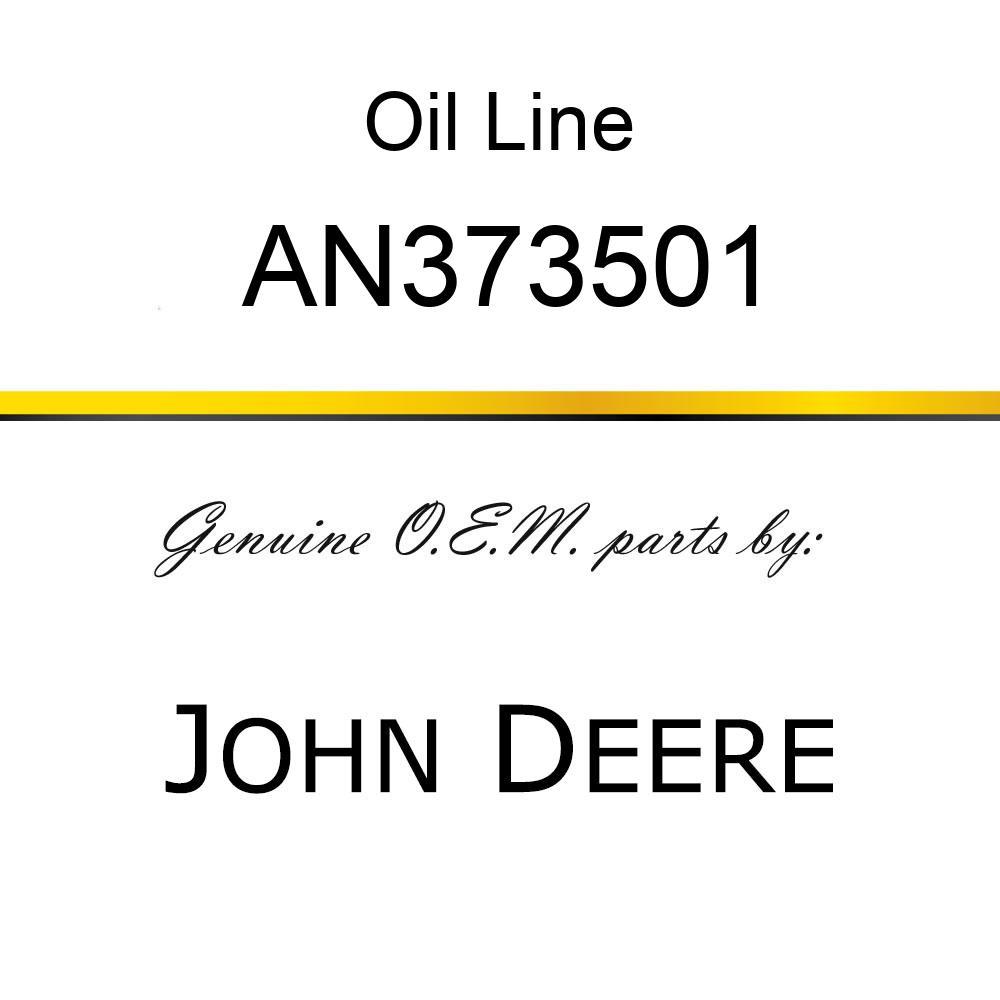 Oil Line - LINE ASSY, REAR PROPEL MOTOR AN373501