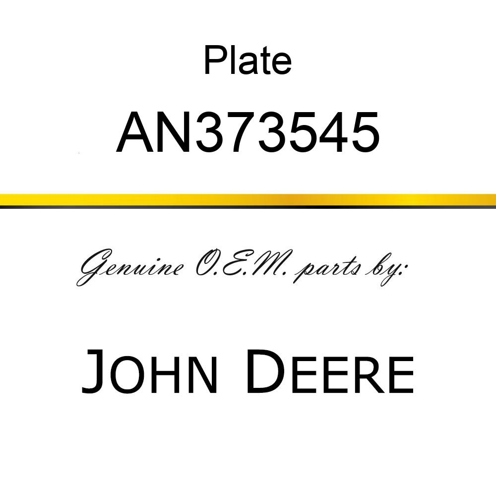 Plate - PLATE ASSY, TOP VRS AN373545