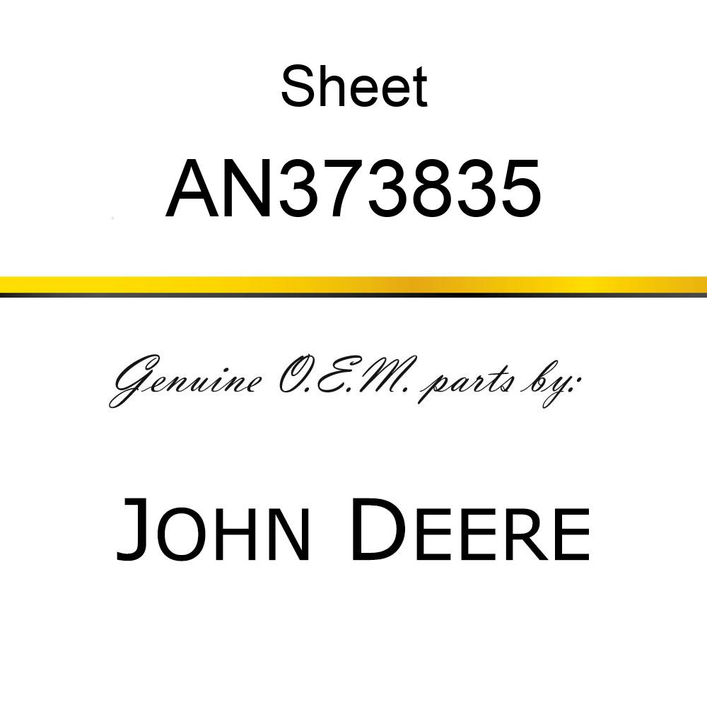 Sheet - SHEET ASSY. CLEANER RH, METRIC AN373835