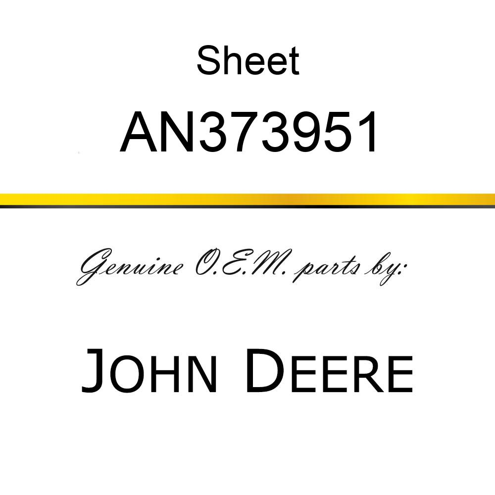 Sheet - PANEL ACCESS HATCH/DECAL AN373951