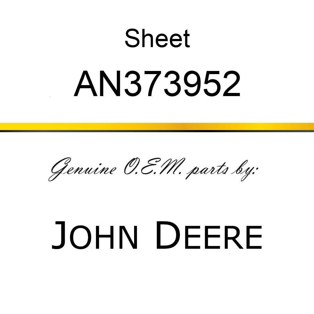 Sheet - SHEET, RH END CAP/DECAL AN373952