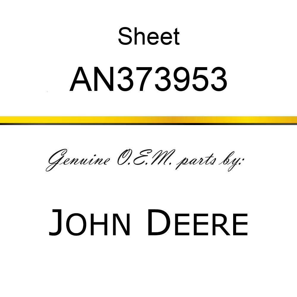 Sheet - SHEET, TONGUE ASSY/DECAL AN373953