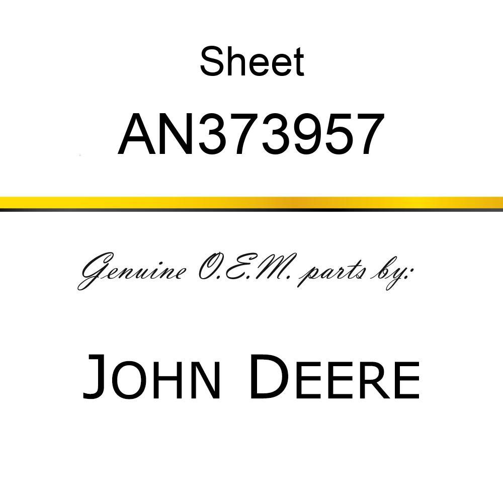 Sheet - STRAP REFLECTOR YELLOW DECAL AN373957