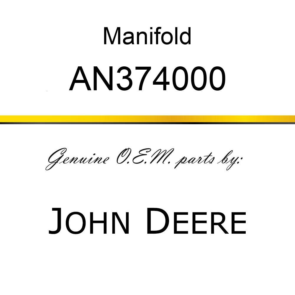 Manifold - MANIFOLD, TRASH RH AN374000