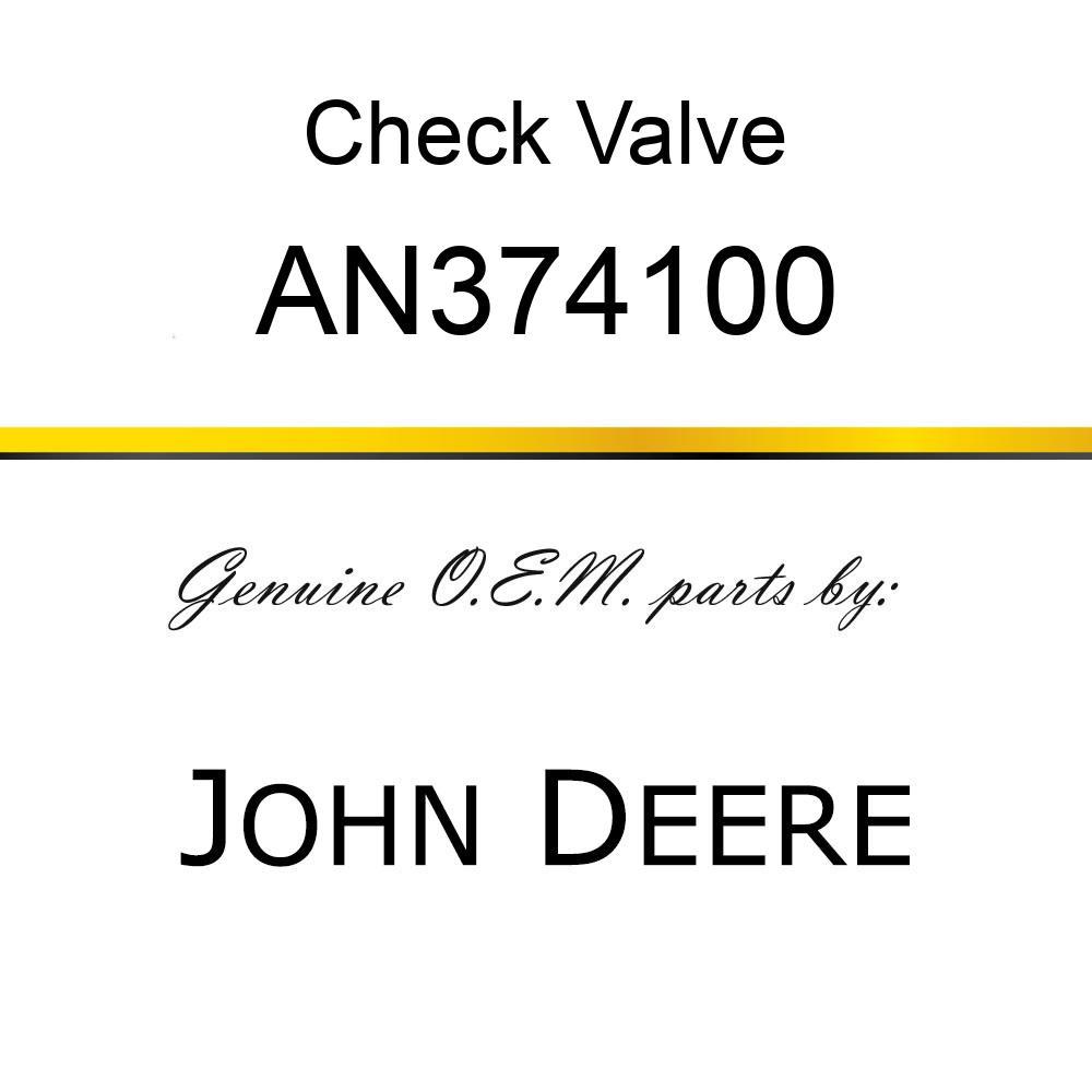 Check Valve - CHECK VALVE AN374100