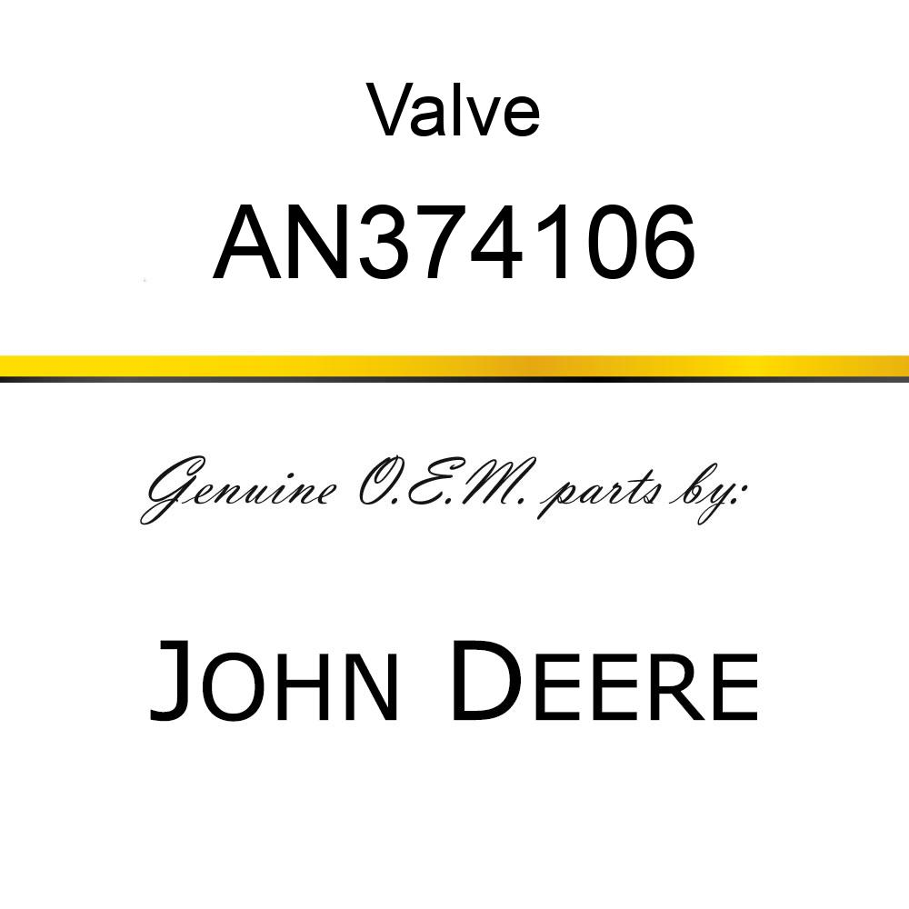 Valve - VALVE, PRESSURE REDUCING CARTRIDGE AN374106