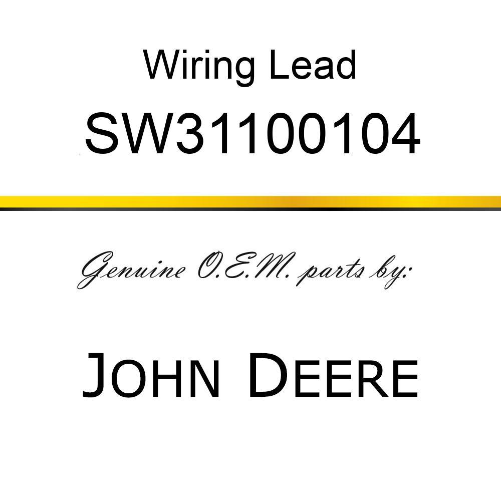 SW31100104 Wiring Lead - ISO RADIO ADAPTER JOHN DEERE OEM part ...