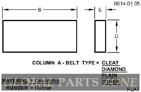 Flat Belt - FLAT BELT, BELT, LOWER FEEDER AN374044