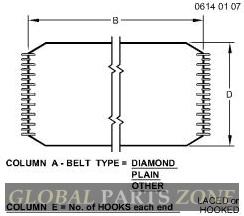 Flat Belt - FLAT BELT, RMB, WIDE - 222 MM AN373216