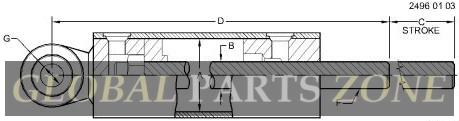 Hydraulic Cylinder - CYLINDER - 4X1.5X16 AN373288