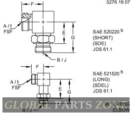 Flange Fitting - FITTING,12MB-12MFF90, W/ SCREEN AN373716