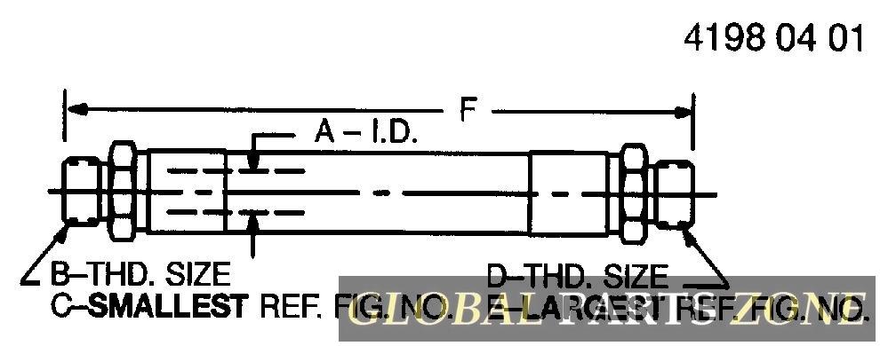 Hydraulic Hose - HYDRAULIC HOSE - FABRICATE, HOSE HY AN373811