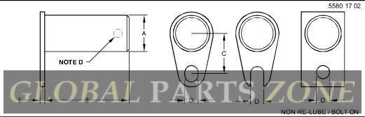 Pin - PIN, CYLINDER PIVOT, ASSEMBLY AN374022