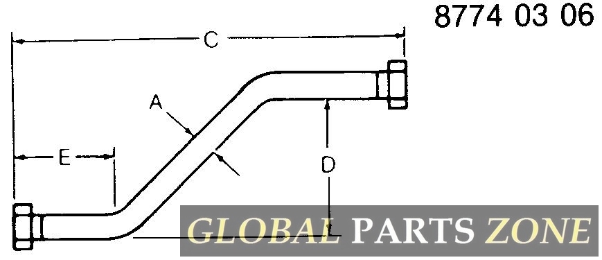 Oil Line - LINE ASSY,FILTER RETURN AN373513